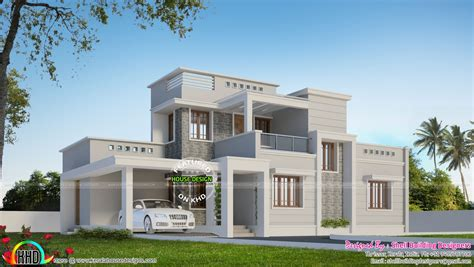 Home Design Box Type by Beautiful Box Type Modern Home Kerala Home Design And