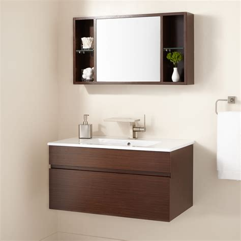 wall mount bathroom sink faucet installation signature hardware 33 quot dimitri wenge wall mount vanity and