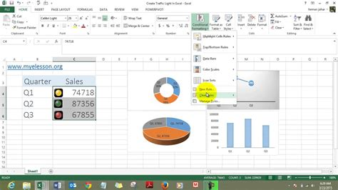 create traffic light chart  excel youtube