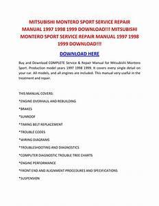Mitsubishi Mirage Service Repair Manual 1997 1998 1999 Wiring Diagram