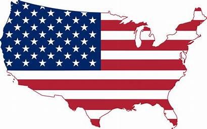 States United Map Flag Usa Svg America