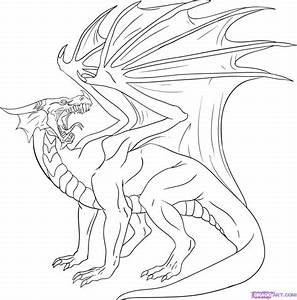 How to Draw a Red Dragon, Step by Step, Dragons, Draw a ...