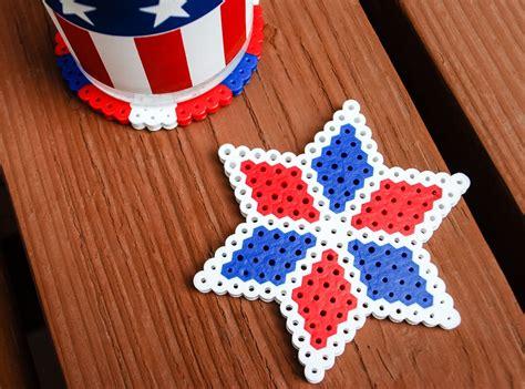 fourth  july kids crafts perler bead diy coasters