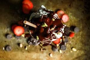 Boozy Roasted Strawberry Ice Cream Sundae with Coconut Hot ...