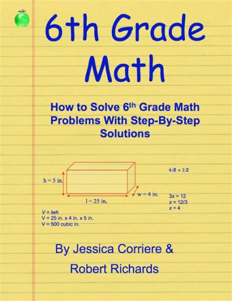6th Grade Math  How To Solve 6th Grade Math Problems With Stepbystep Directions By Jessica