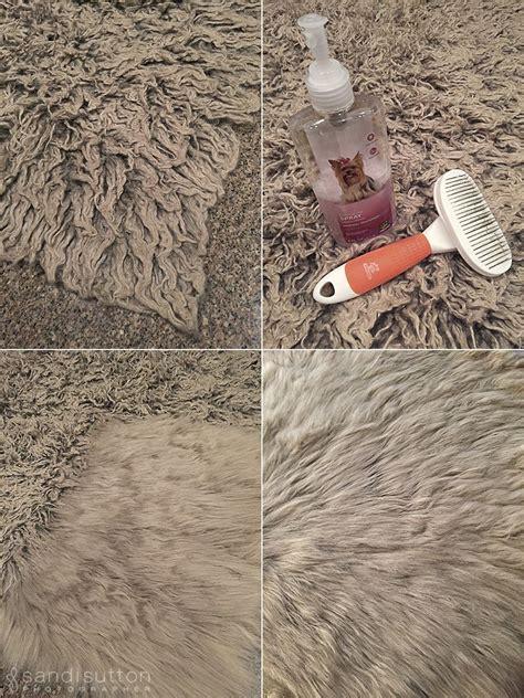 quick  easy trick  fix  matted faux fur faux fur