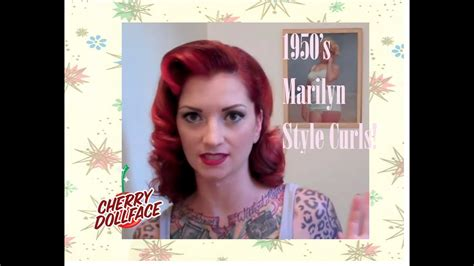 1950s Hairstyle Tutorial by Vintage 1950 S Curly Hair Tutorial Ala Marilyn By