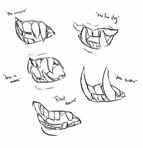 , how to draw sharp teeth and have them make sense:...