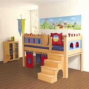 Hochbett Für 2 Kinder : kinderzimmerdekoration panorama tapete f r kinderzimmer ritter 2 m ein designerst ck von ~ Sanjose-hotels-ca.com Haus und Dekorationen