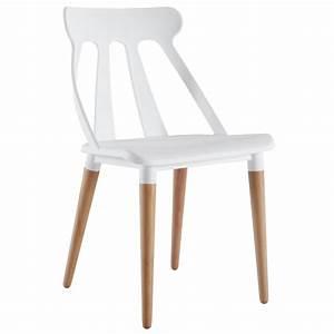 Chaise En Bois Massif : salon chaise design blanc comforium ~ Teatrodelosmanantiales.com Idées de Décoration