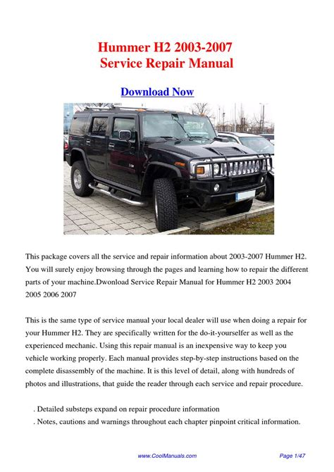 how to download repair manuals 2004 hummer h2 instrument cluster 2003 2007 hummer h2 factory repair manual by hong ling issuu