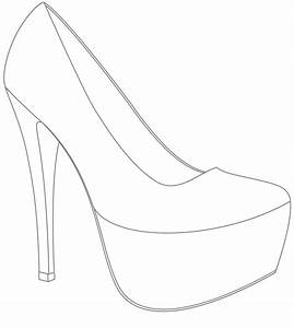 Template for shoes design win your wedding shoes with for High heel shoe design template