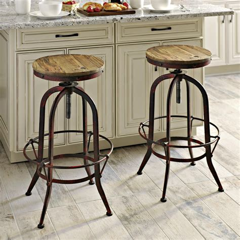 Modern Kitchen Bar Counter Stools For Sale by Add Kirkland S Industrial Barstools To Your Kitchen For A