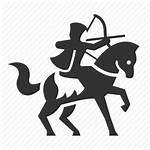 Medieval Archer Archery Clipart Icon Warrior Battle