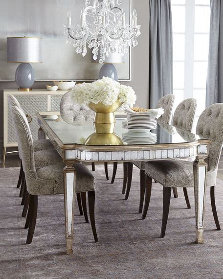 mirrored dining table set dining room furniture at horchow
