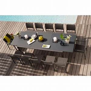 Table De Jardin Extensible : table extensible oxford anthracite tables de jardin tables chaises bancs mobilier de ~ Teatrodelosmanantiales.com Idées de Décoration