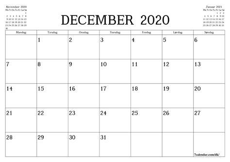 print kalender svaevefly planlaegning af poster  december