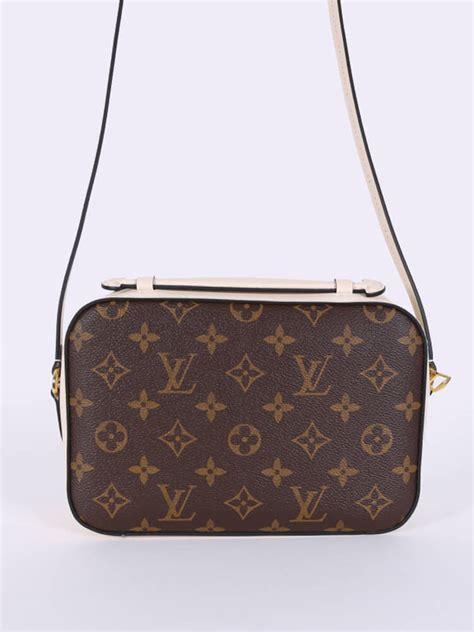 louis vuitton saintonge monogram canvas camera bag cream luxury bags