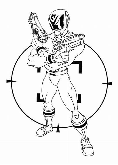 Power Rangers Coloring Children Pages Simple