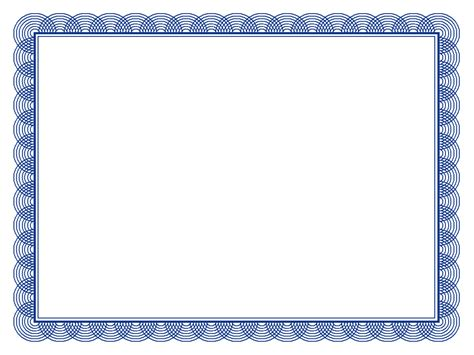 Template Certificate Borders Template 6 Best Images Of Swirl Border Template Simple