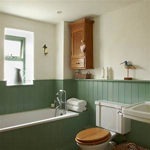 Country bathroom with tongue and groove panelling for Tongue and groove wall panelling for bathrooms