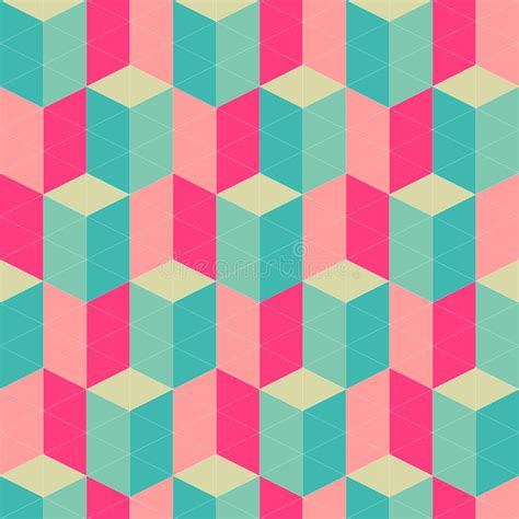 Abstract Retro Geometric Seamless Pattern Stock ...