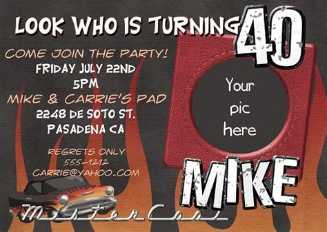 Nice 40th Birthday Invitations Ideas for Men Download this