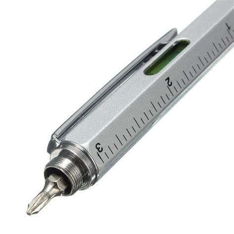 metal multitool  handy screwdriver ruler spirit