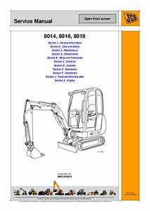 Jcb 8014 Mini Excavator Service Repair Manual Sn  1505500 To 1506499