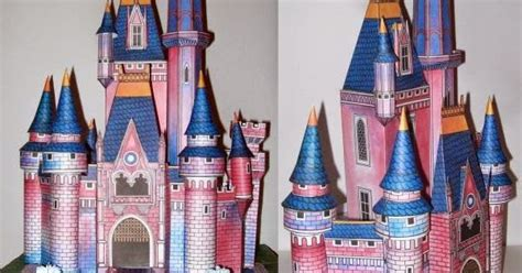 vintage disney cinderella castle papercraftjpg