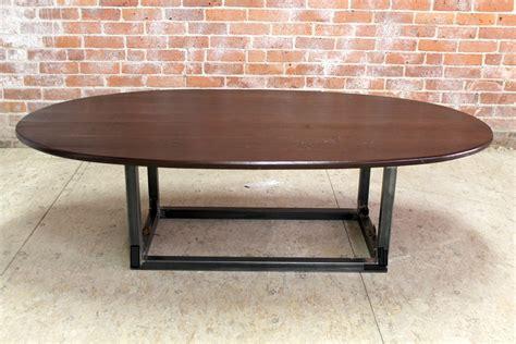 oval concrete coffee table furniture mid century modern long narrow wood coffee