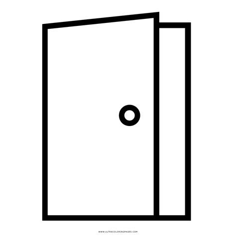 door colouring pictures open  closed door clipart