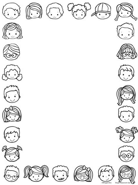 14812 school border clipart black and white 19 best clip blank labels images on