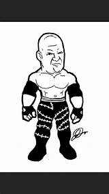 Wwe Chibi Drawing Coloring Wrestlers Kane Pages Games Drawings Superstars Cool Wrestling Getdrawings Lucha Character Uploaded User sketch template