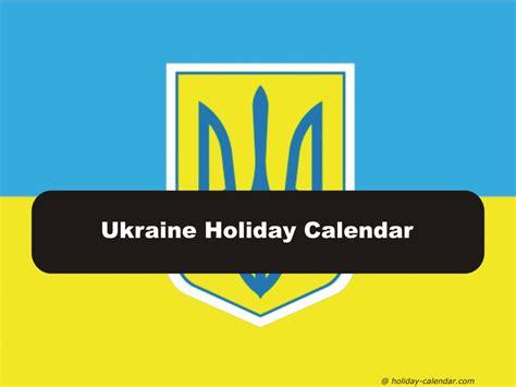 ukraine holiday calendar