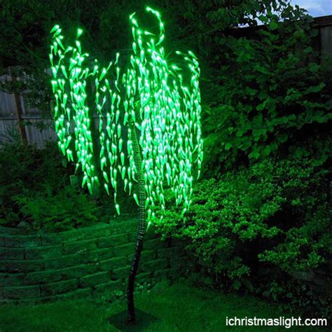 holiday outdoor weeping willow led tree ichristmaslight