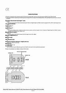 Sony Sal2470z Vario Sonnar T 24