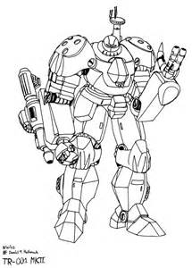 Battle Robot Coloring Pages