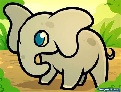 draw  elephant  kids step  step animals