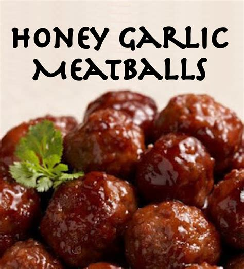 honey garlic meatballs happy girls   prettiest