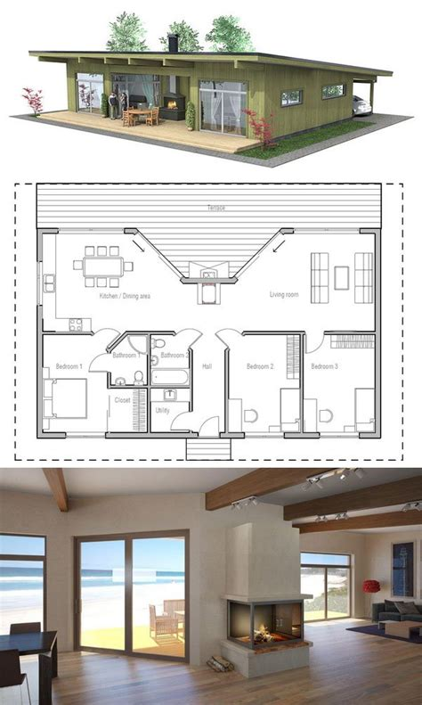 Small House Plan with three bedrooms Home Decoz