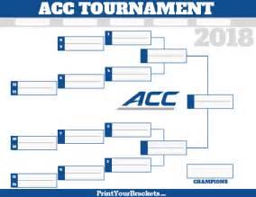 2017 Printable ACC Basketball Tournament Bracket