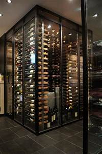 Millesime racks in the wine cellar -7- - Contemporary