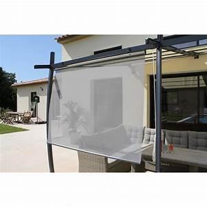 Abri De Terrasse Rideau : rideau textil ne brise soleil gris x cm ~ Premium-room.com Idées de Décoration