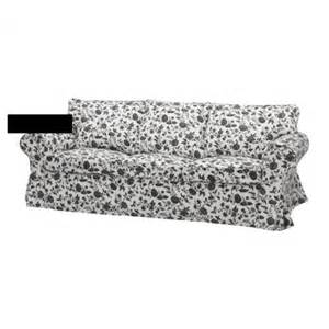 sofa bezug ikea ikea ektorp 3 seat sofa slipcover cover hovby black white floral bezug