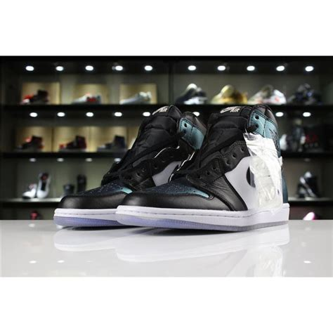 Mens Air Jordan 1 High Og All Star Blackmetallic Silver