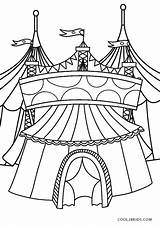 Circus Coloring Printable Pages Tent sketch template