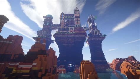 minecraft castle steampunk map maps pc games crafting pcgamesn