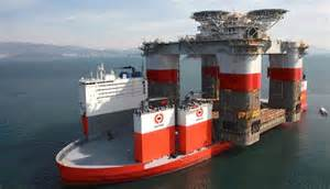 <b>Dockwise Vanguard</b> loaded at Samsung