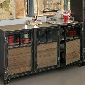 Ware buffet salons and industrial for Deco cuisine pour meuble tv verre